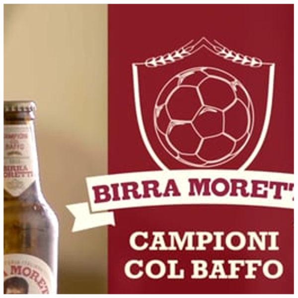 BIRRA MORETTI CAMPIONI COL BAFFO